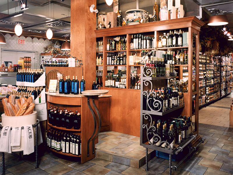 Prior to the fire, the store aesthetic was at the opposite end of the spectrum with wrought-iron details and intricately carved wood furniture.