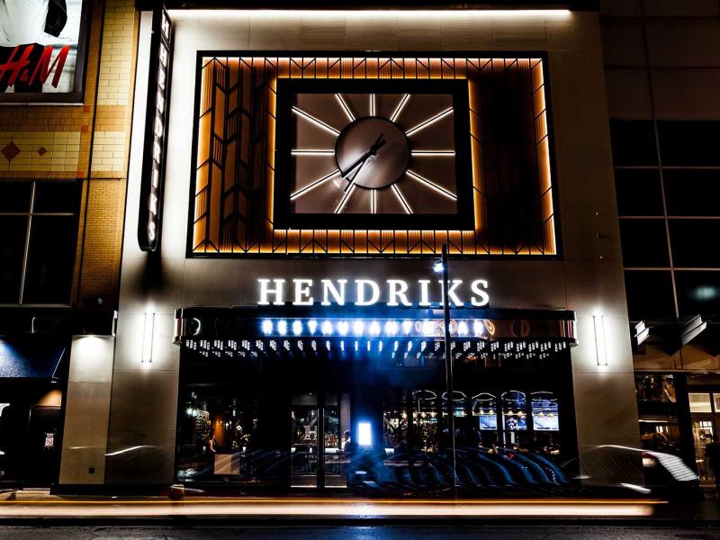 Le restaurant & bar Hendriks est maintenant ouvert !